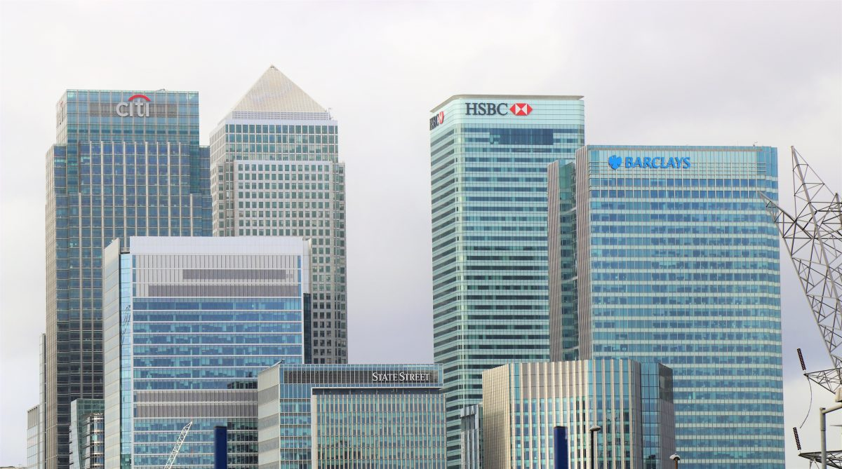 An image of several large banks