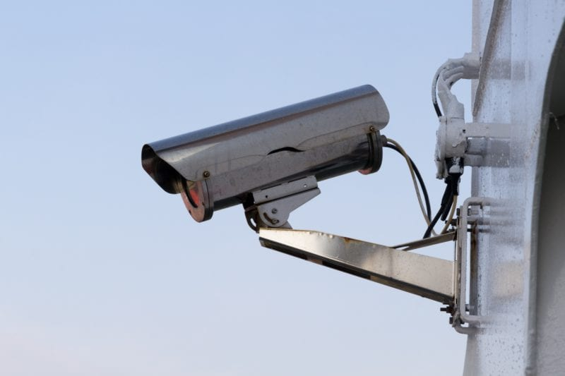 An image of a camera performing physical security