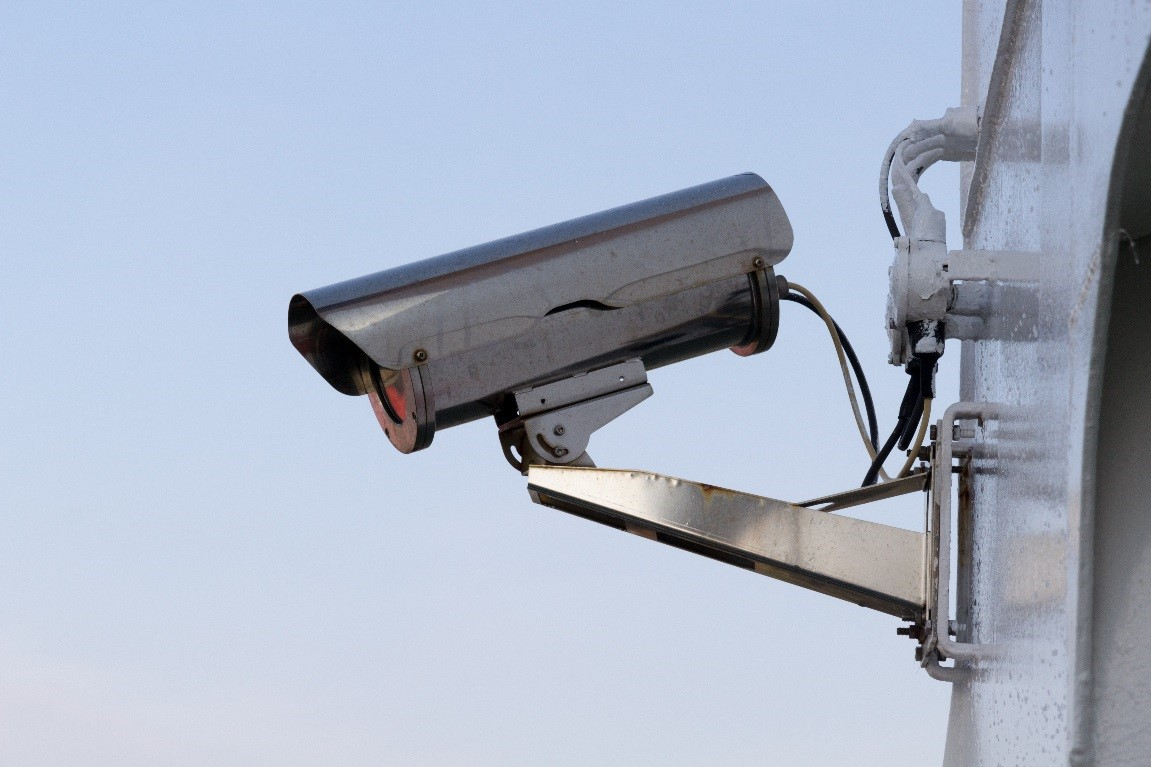 An image of a video surveillance camera