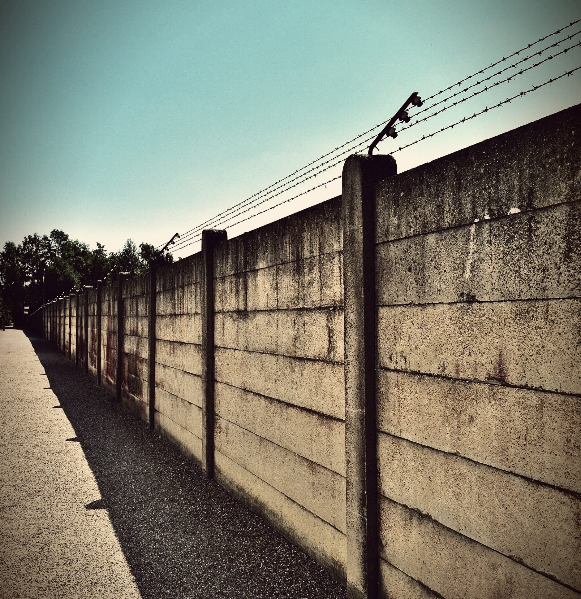 Wall used for facility physical security.