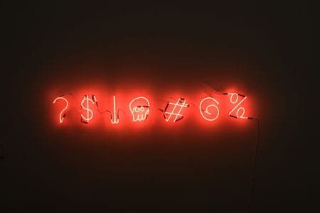 Neon characters that should be used in passwords.