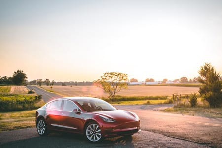 Tesla model 3 that had supply chain issues